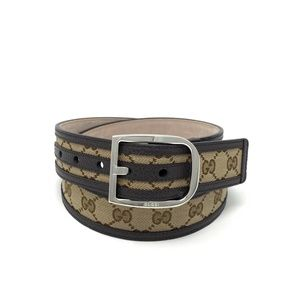 Gucci Leather-Trimmed Belt Size 36